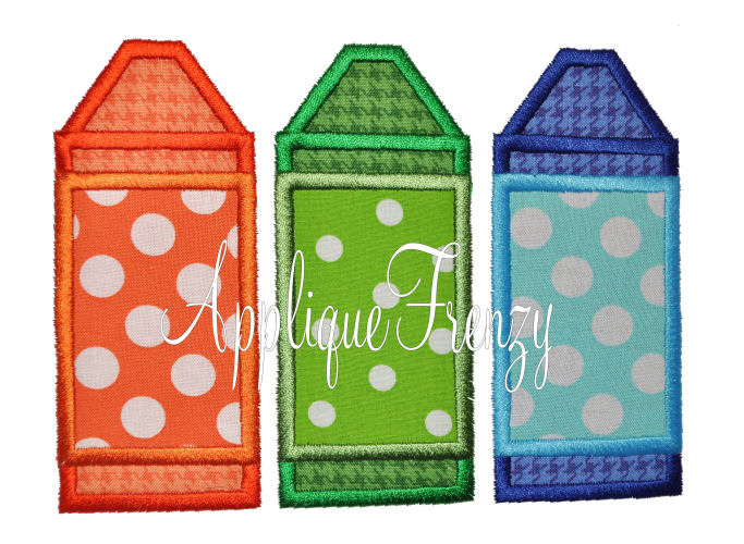 Crayon Trio Applique Frenzy-