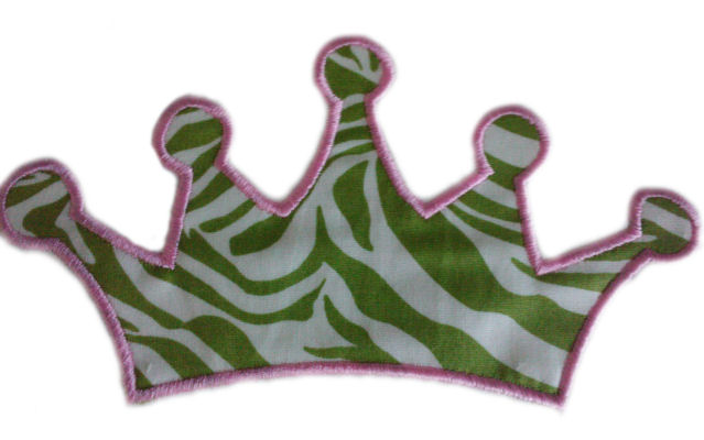 Simple Crown Applique Design