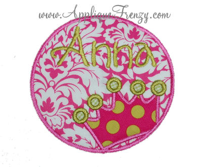 Crown Circle Patch Applique-