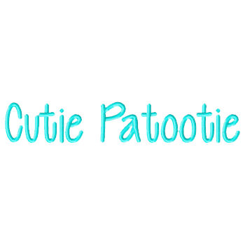 Cutie Patootie Embroidery Font-cutie font, itch 2 stich, itch to stitch, font, embroidery, ttf, boy font, girl font, script, print