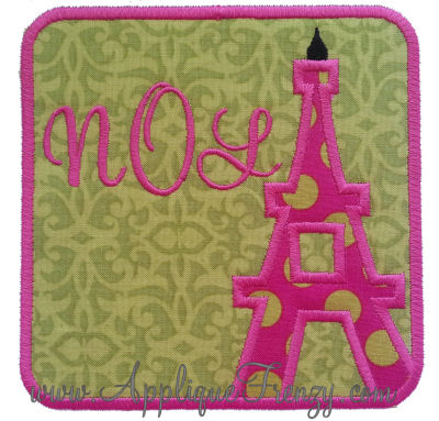 Eifle Tower Square Patch Applique-