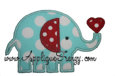 Elephant With Heart Design-