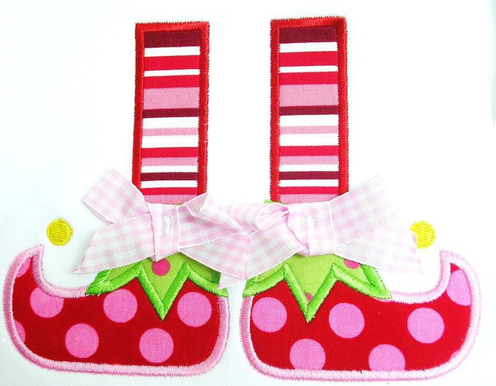 Elf Shoes Applique Design-