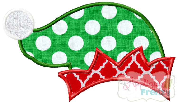 Elf Hat Applique Design-christmas, elf, hat, santa, mistle toe, evergreen, gifts,