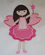 Fairy Girl  Applique Design-fairy, girl, princess