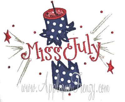Firecracker Name Explosion Applique Design-