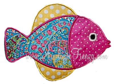 Fish 2 Applique Design-