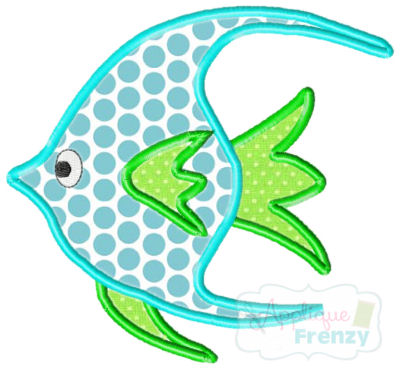 Fish 4 Applique Design-fish, summer, beach, cruise, sun
