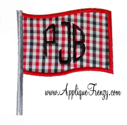 Flag Applique Design-flag, 4th of july, fourth,