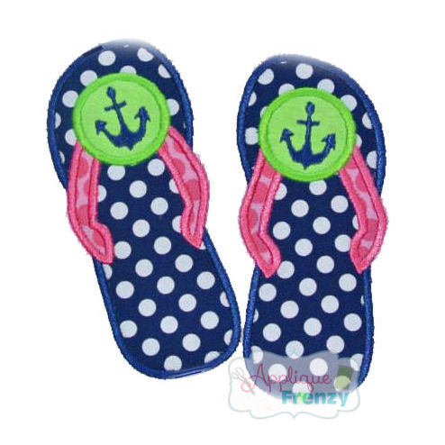 Flip Flop Anchor Applique Design-