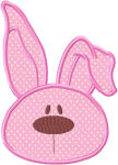 Floppy Ear Bunny Applique Design-floppy ear bunny