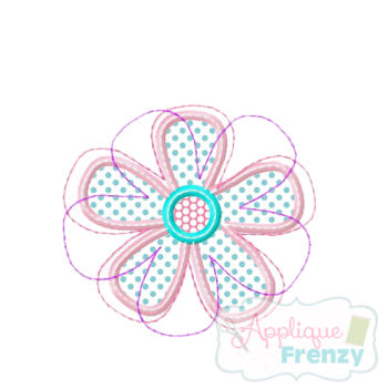 Flower2 Applique Design-flower, spring, new growth, daisy, rose