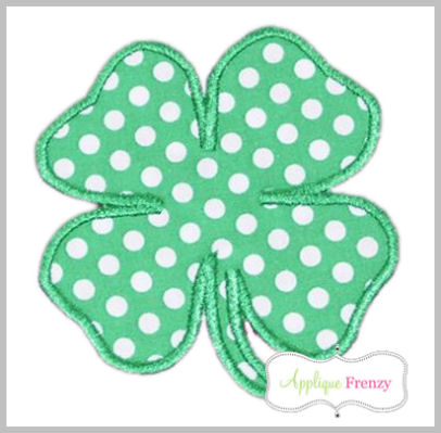 Four Leaf Clover Applique Design-