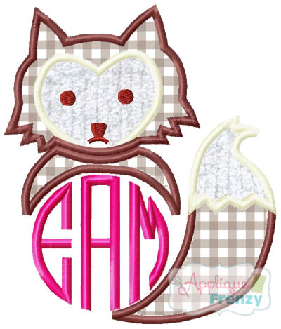 Fox17 Applique Design-fox, monogram fox, boho, native american, tribal