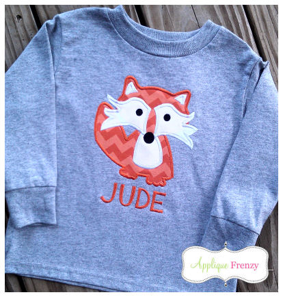 Fox Applique Design-kellys kids, kelly's kids, fox
