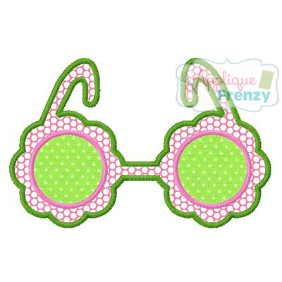 Frilly Sunglasses Applique Design-summer, sun, sunglasses, beach