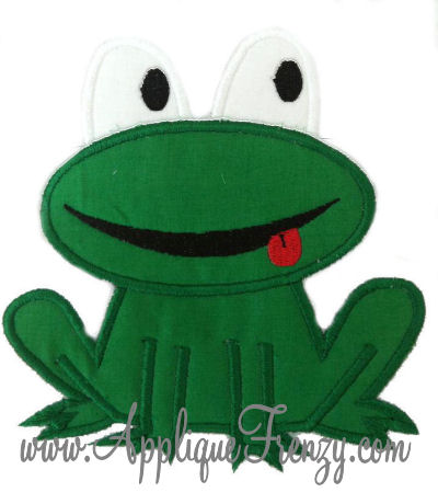 Frog Applique Design-