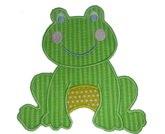 Froggy Applique Design