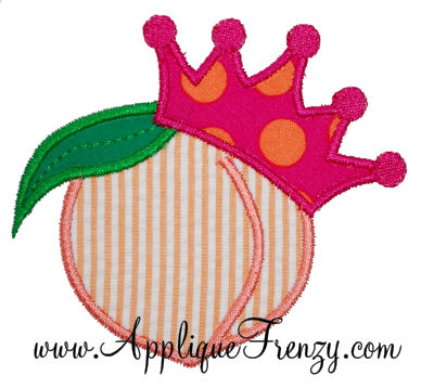 Georgia Peach Princess Applique Design