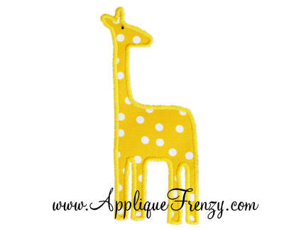 Simple Giraffe Applique Design-