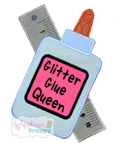 Glue and Ruler Crossed Design-