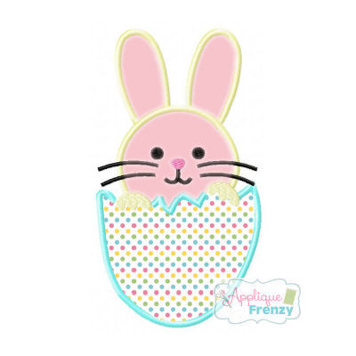Hatched Bunny Egg Applique Desig-