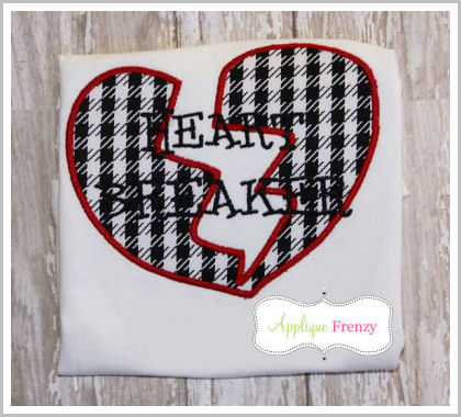 Heart Breaker Applique Design-