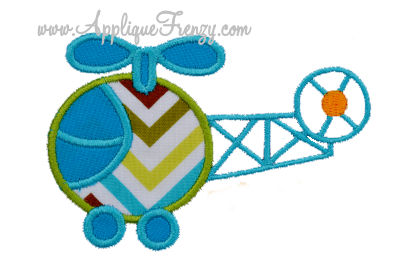 Helicopter Applique Design-