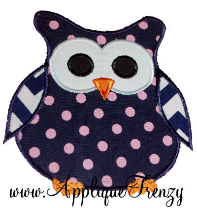 Hoot Owl Applique Design-
