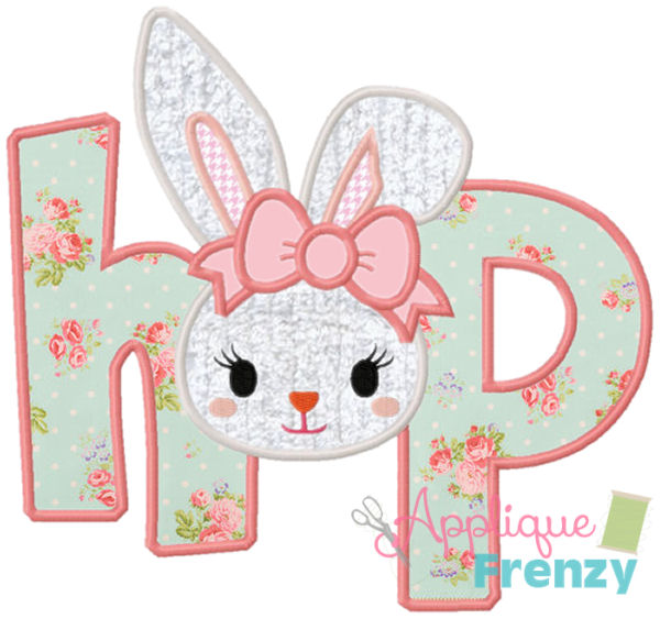 Hop Bunny Applique Design-easter, bunny, easter applique, bunny applique, easter basket, easter hop, rabbit