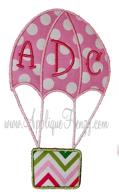 Hot Air Balloon Applique Design-