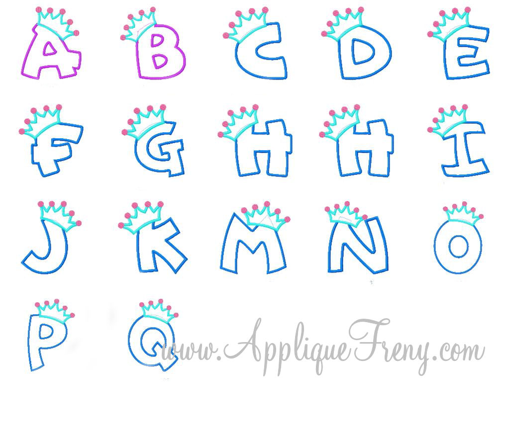 Promo April 18-26th,2013 -Princess Applique Font-