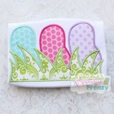 Jelly Bean Trio in Grass Applique Design-easter, bunny, egg hunt, jelly bean