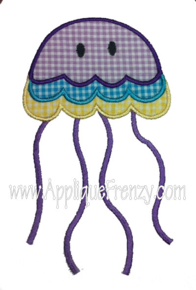 Jellyfish Applique Design-