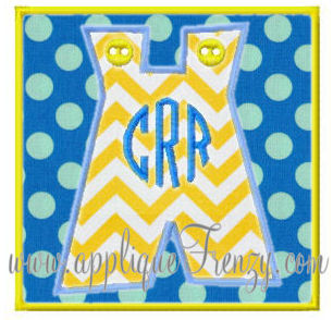 Jon Jon Square Patch Applique-