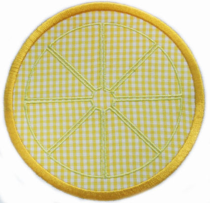 Lemon Slice Applique Design-lemon, lemon slice, summer, lemonade