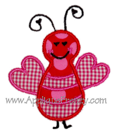 Love Bug Embroidery Design-
