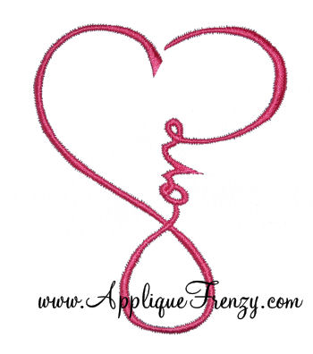 Love Heart Embroidery Design-