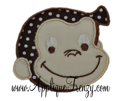 Monkey Face Applique Design-