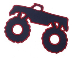 Monster Truck Applique Design