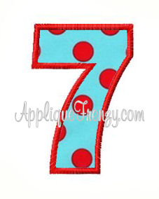 Numbers Set Applique Font-