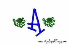 Octopus Alphabet Embroidery Design-