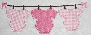 Onesie on a Line Applique Design-baby, onesie, newborn, clothes line