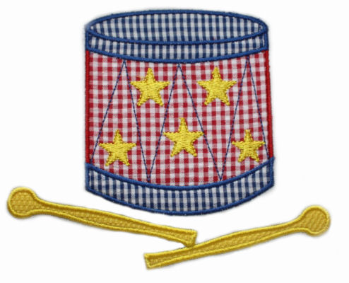Patriotic Drum Applique Design