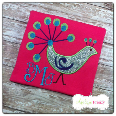 Peacock Applique Design-bird, fall, peacock, summer