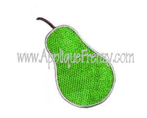 Pear Applique Design-