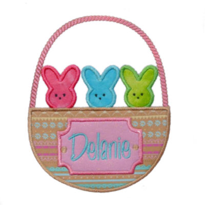 Peeps in a Basket Applique Design
