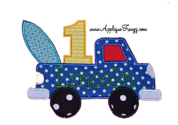First Surf Birthday Applique Design-surf, 1st birthday, first birthday, BEACH, SUMMER