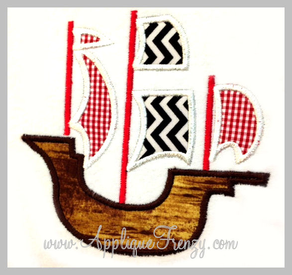 Pirate Ship 2 Applique-