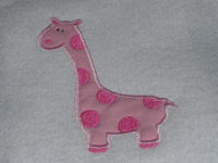 Polka Dot Giraffe Applique Design